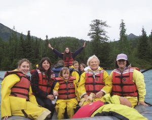 Photo courtesy: Tauck Bridges, summer river rafting in Alaska